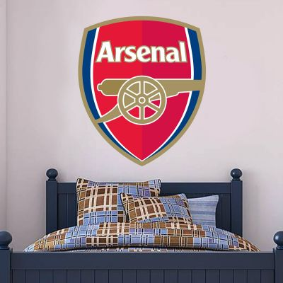 Arsenal Football Club - Crest Mural + Gunners Wall Sticker Set