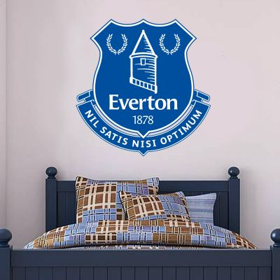 Everton Football Club - Crest + Toffees Wall Sticker Set