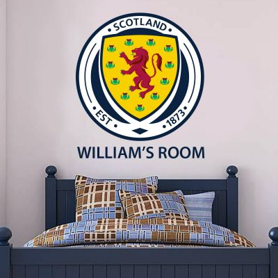 Scotland National Team - Crest & Personalised Name Wall Sticker + Decal Set