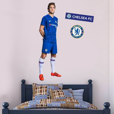 Chelsea FC - Marcos Alonso Player Decal + CFC Wall Sticker Set