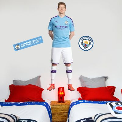 Manchester City FC - Kevin De Bruyne 2019 Player Decal + Bonus Wall Sticker Set