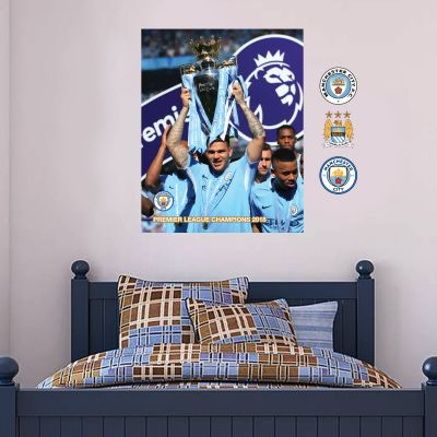 Premier League Champions 2018 - Ederson Mural + Wall Stickers Set