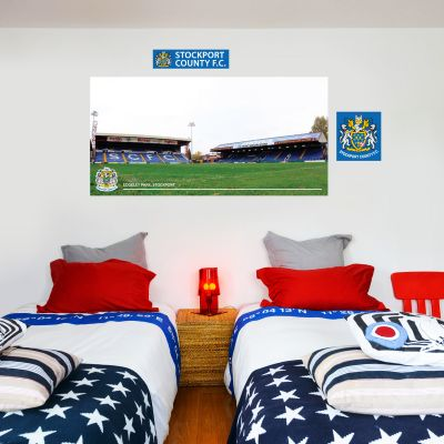 Stockport County F.C. - Edgeley Park Stadium (Pitch Side) + Hatters Wall Sticker Set