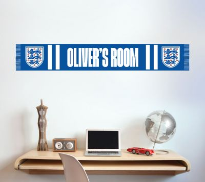 England Personalised Name Bar Scarf Wall Sticker