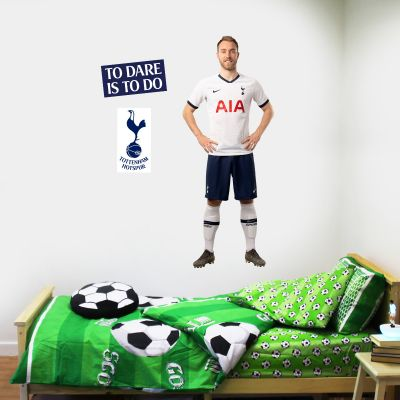 Tottenham Hotspur FC - Christian Eriksen Player Wall Mural + Spurs Wall Sticker Set