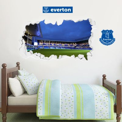 Everton Football Club - Smashed Goodison Park Stadium (Night) + Toffees Wall Sticker Set