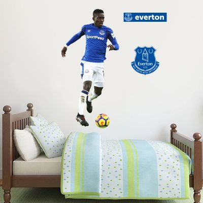 Everton FC - Idrissa Gueye Player Decal + Toffees Gift Wall Sticker Set