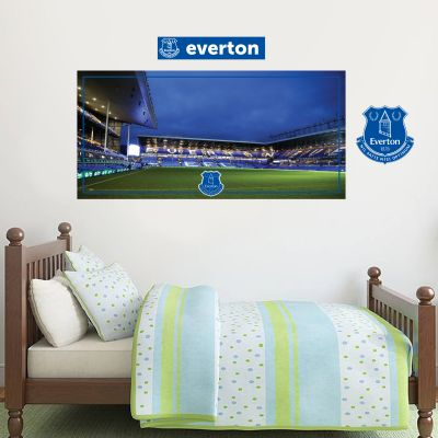 Everton Football Club - Goodison Park Stadium (Night) + Toffees Wall Sticker Set