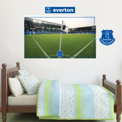 Everton Football Club - Goodison Park Stadium (Corner Flag) + Toffees Wall Sticker Set