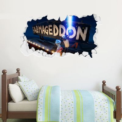 Shaun The Sheep: Farmageddon Farm Sign Broken Wall Sticker