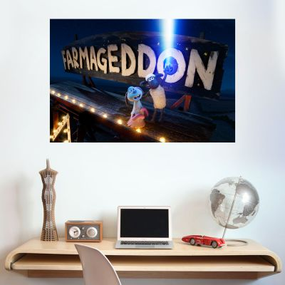 Shaun The Sheep: Farmageddon Farm Sign Wall Sticker