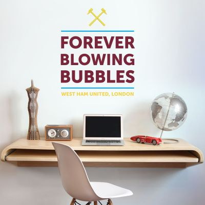 West Ham United Football Club Forever Blowing Bubbles Design Wall Sticker Vinyl