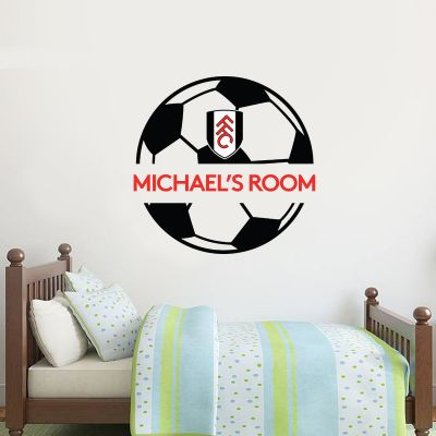 Fulham F.C. - Personalised Name & Ball Design Wall Sticker