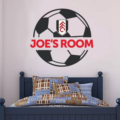 Fulham Football Club Personalised Name & Ball Design Wall Sticker