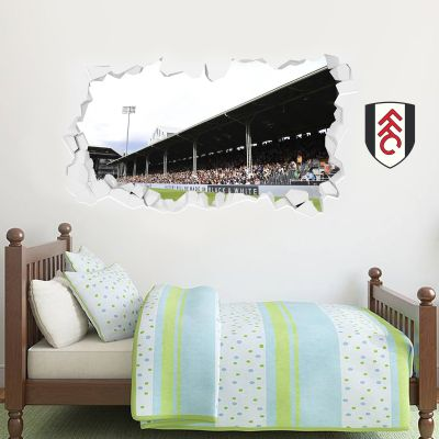 Fulham Football Club Stadium Smashed Wall Mural & Crest Wall Sticker