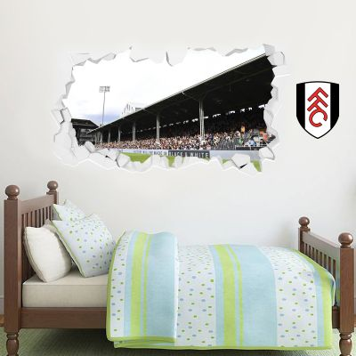 Fulham F.C. - Smashed Craven Cottage Stadium & Crest Wall Sticker