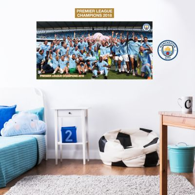 Premier League Champions 2018 - Team Lifting the Trophy Mural+ Wall Stickers Set