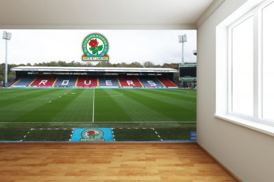 Blackburn Rovers FC - Ewood Park Stadium Full Wall Mural
