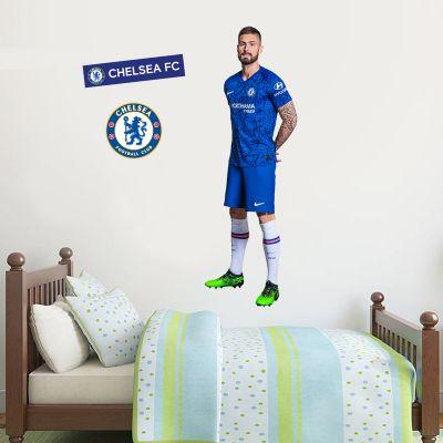 Chelsea FC - Giroud Player Decal + CFC Wall Sticker Set