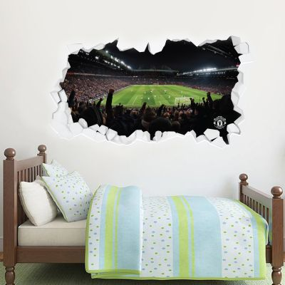 Manchester United F.C. - Broken Wall Old Trafford (Stretford End Goal) Wall Sticker