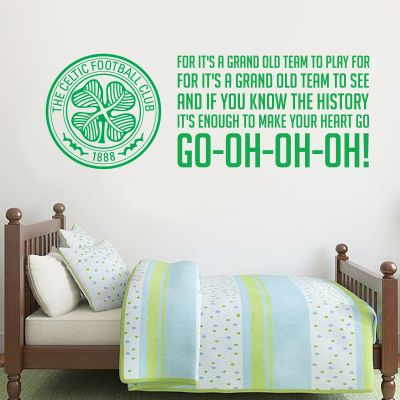 Celtic Football Club - Crest & Grand Old Team Song + Celts Wall Sticker Set