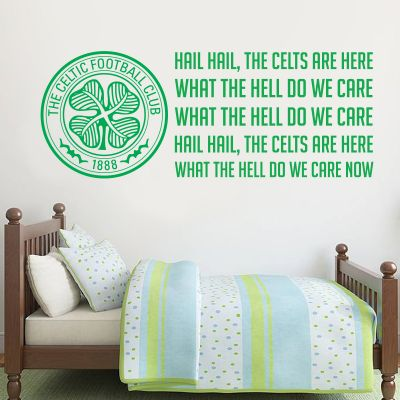 Celtic Football Club Crest & Celts Song + Celtic Wall Sticker Set