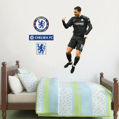 Chelsea FC - Eden Hazard Celebration Player Decal + CFC Wall Sticker Set