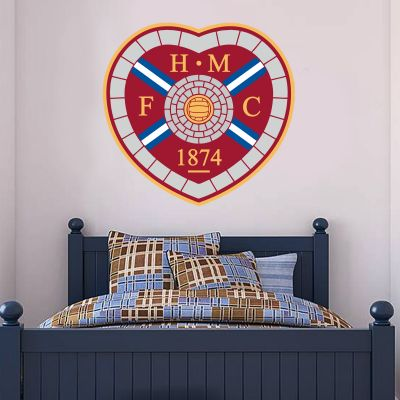 Hearts Football Club - Hearts Crest + Wall Sticker Set