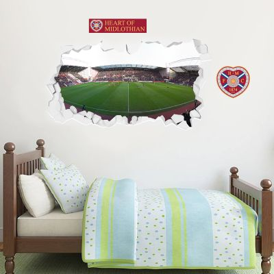 Hearts Football Club - Smashed Tynecastle Park Stadium + Wall Sticker Set