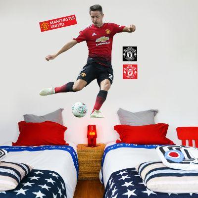 Manchester United F.C. - Ander Herrera Shooting Player Decal + Bonus Wall Sticker Set