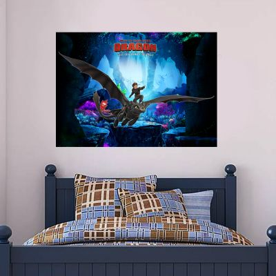 How To Train Your Dragon - Hiccup & Toothless Wall Sticker Poster
