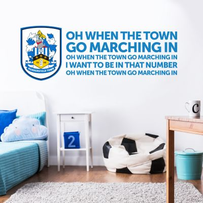 Huddersfield Town Football Club - Crest & Song + Terriers Wall Sticker Set