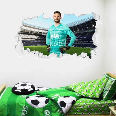 Tottenham Hotspur Football Club - Hugo Lloris Broken Wall Sticker + Spurs Wall Sticker Set