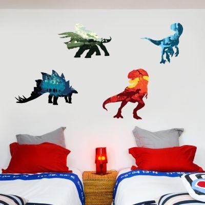 Jurassic World Dinosaur Decals Wall Sticker Set