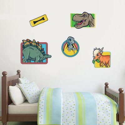 Jurassic World Childrens Dinosaur Wall Sticker Set