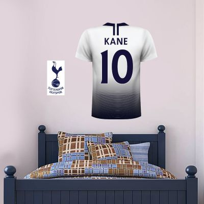 Tottenham Hotspur Football Club - Personalised Football Shirt Wall Sticker + Tottenham Hotspur Crest Set