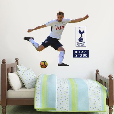 Tottenham Hotspur FC - Harry Kane Shooting Wall Mural + Spurs Wall Sticker Set