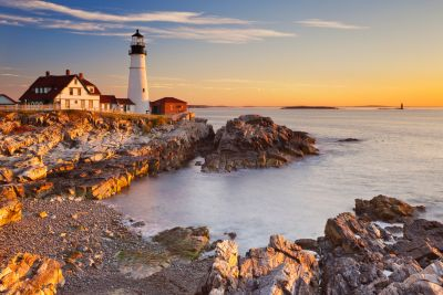 Lighthouse and Coastline Wall Mural