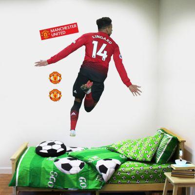 Manchester United F.C. - Jesse Lingard Celebration Player Decal + Bonus Wall Sticker Set