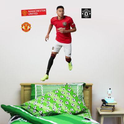 Manchester United F.C. - Jesse Lingard Player Decal + Bonus Wall Sticker Set