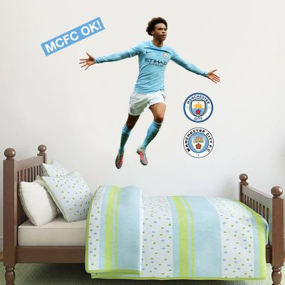 Manchester City FC - Leroy Sané Celebration 2018 Player Decal + Wall Sticker Set
