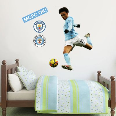 Manchester City FC - Leroy Sané 2018 Player Decal + Wall Sticker Set