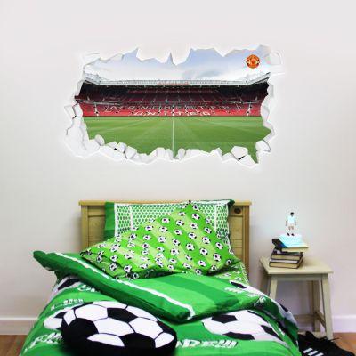 Manchester United F.C. - Broken Wall Old Trafford Wall Sticker