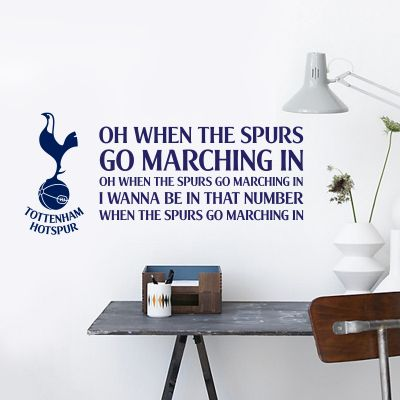 Tottenham Hotspur Football Club - 'Spurs Go Marching In' Song Wall Sticker Vinyl