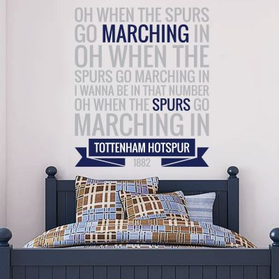 Tottenham Hotspur Football Club 'Marching In' Song Wall Sticker Vinyl