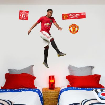 Manchester United F.C. - Anthony Martial Shooting Player Decal + Bonus Wall Sticker Set