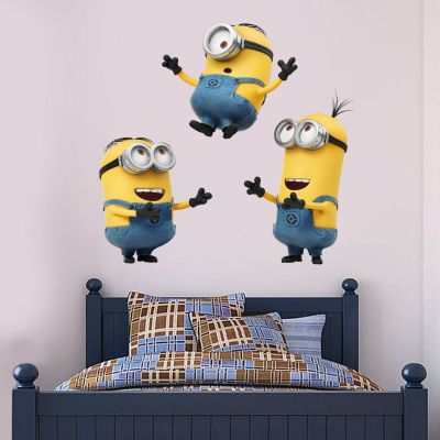 Despicable Me - 3 Minions Playing Wall Sticker