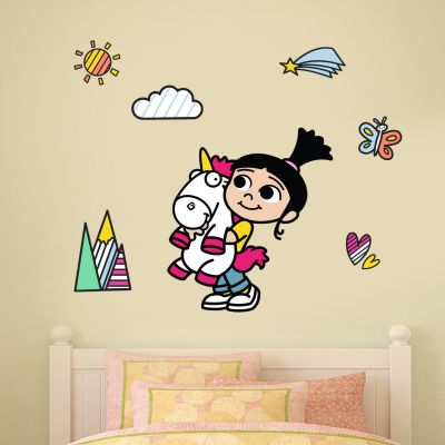 Despicable Me - Agnes and Fluffy Wall Sticker Set