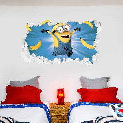 Despicable Me - Minion Bananas Broken Wall Sticker