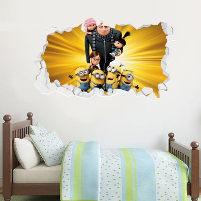 Despicable Me - Minions and Family Broken Wall Sticker